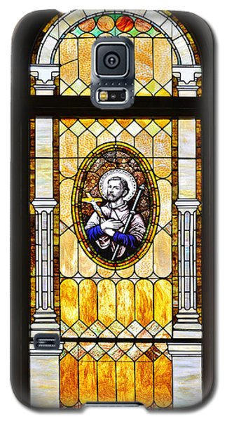 Galaxy S5 Case featuring the photograph Stained Glass Window Father Antonio Ubach by Christine Till
