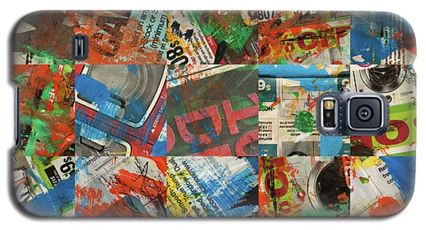 Stained Newspaper Pages Galaxy S5 Case