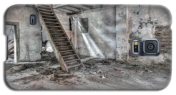 Galaxy S5 Case featuring the photograph Stair In Old Abandoned  Building by Michal Boubin