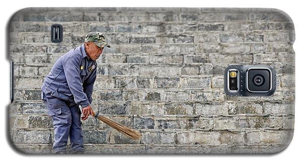 Stair Sweeper In Bhutan Galaxy S5 Case by Joe Bonita