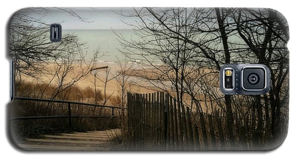 Galaxy S5 Case featuring the photograph Stairs To The Beach In Winter by Michelle Calkins
