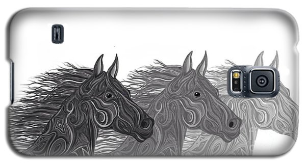 Galaxy S5 Case featuring the drawing Stallions Shades by Nick Gustafson