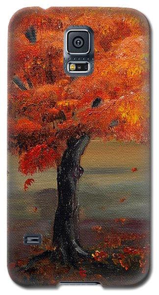Stand Alone In Color - Autumn - Tree Galaxy S5 Case by Jan Dappen