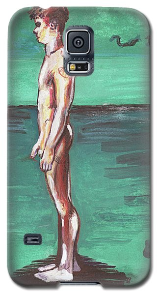 Standig On A Cold Beach With Hesitation  Galaxy S5 Case