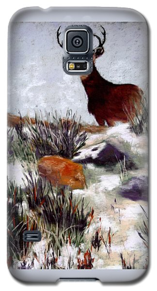 Galaxy S5 Case featuring the painting Standing Guard by Nancy Jolley