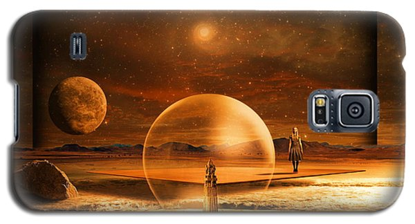 Galaxy S5 Case featuring the digital art Standing In Time by Franziskus Pfleghart