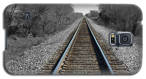 Standing On The Tracks Galaxy S5 Case by Robyn Stacey