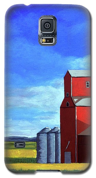 Galaxy S5 Case featuring the painting Standing Tall by Linda Apple