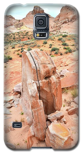 Galaxy S5 Case featuring the photograph Standup Sandstone In Valley Of Fire by Ray Mathis