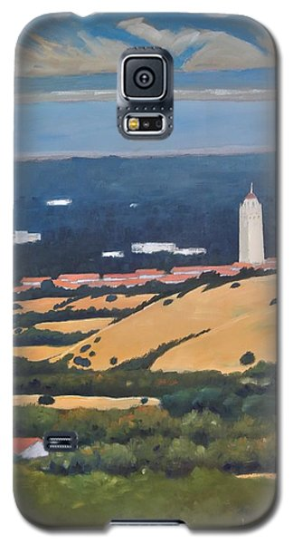 Galaxy S5 Case featuring the painting Stanford From Hills by Gary Coleman