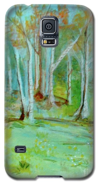 Stanwick Lakes Trees Galaxy S5 Case