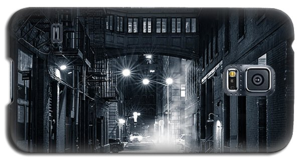Staple Street Skybridge By Night Galaxy S5 Case by Mihai Andritoiu