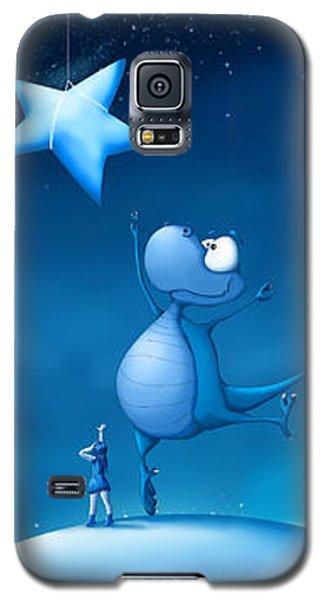 Dragon Galaxy S5 Case - Star Catching by Tooshtoosh
