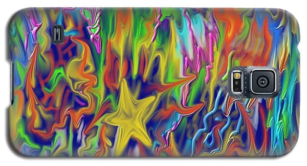 Galaxy S5 Case featuring the painting Star E Nite by Kevin Caudill