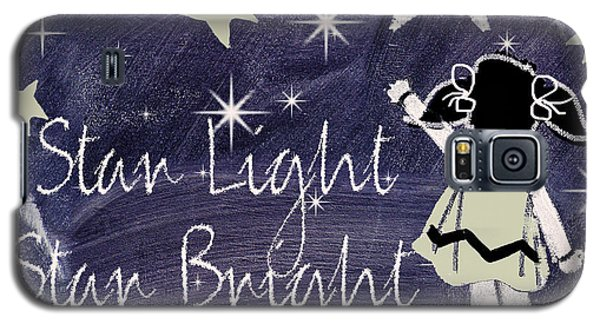 Star Light Star Bright Chalk Board Nursery Rhyme Galaxy S5 Case by Mindy Sommers