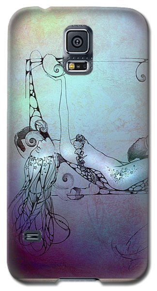 Galaxy S5 Case featuring the painting Star Mermaid by Ragen Mendenhall