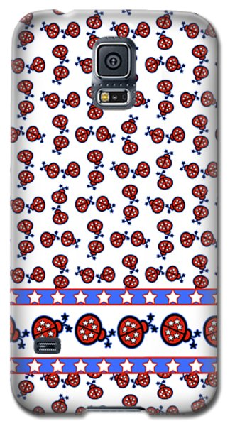 Galaxy S5 Case featuring the digital art Star-spangled Lady Bugs by Methune Hively