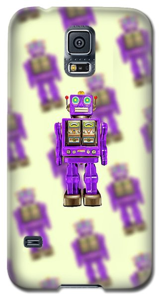 Galaxy S5 Case featuring the photograph Star Strider Robot Purple Pattern by YoPedro