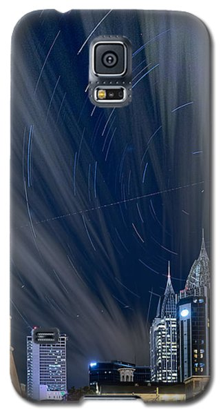 Star Trails And City Lights Galaxy S5 Case