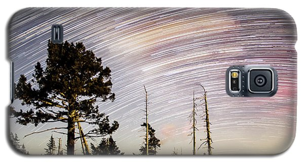 Star Trails At Fort Grant Galaxy S5 Case