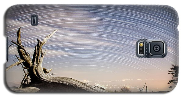 Star Trails By Fort Grant Galaxy S5 Case