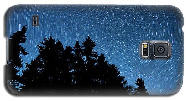 Star Trails In Acadia Galaxy S5 Case