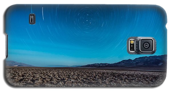 Star Trails In The Desert Galaxy S5 Case