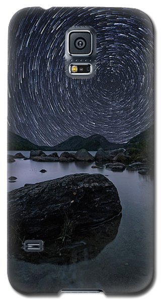 Star Trails Over Jordan Pond Galaxy S5 Case