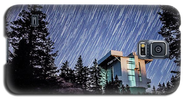 Star Trails Over The Large Binocular Telescope Galaxy S5 Case