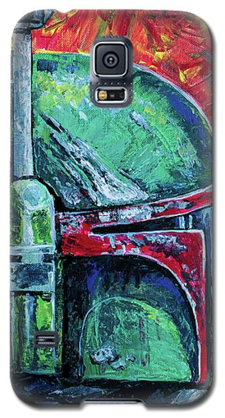 Galaxy S5 Case featuring the painting Star Wars Helmet Series - Boba Fett by Aaron Spong