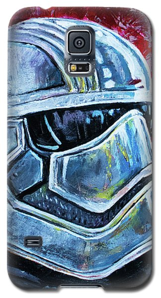 Galaxy S5 Case featuring the painting Star Wars Helmet Series - Captain Phasma by Aaron Spong