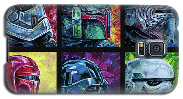 Galaxy S5 Case featuring the painting Star Wars Helmet Series - Collage by Aaron Spong