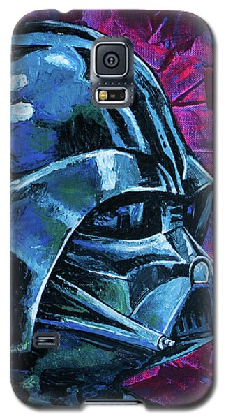 Galaxy S5 Case featuring the painting Star Wars Helmet Series - Darth Vader by Aaron Spong