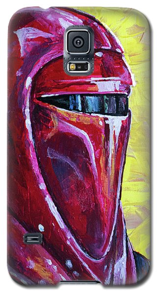 Galaxy S5 Case featuring the painting Star Wars Helmet Series - Imperial Guard by Aaron Spong