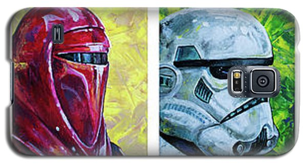 Galaxy S5 Case featuring the painting Star Wars Helmet Series - Panorama by Aaron Spong
