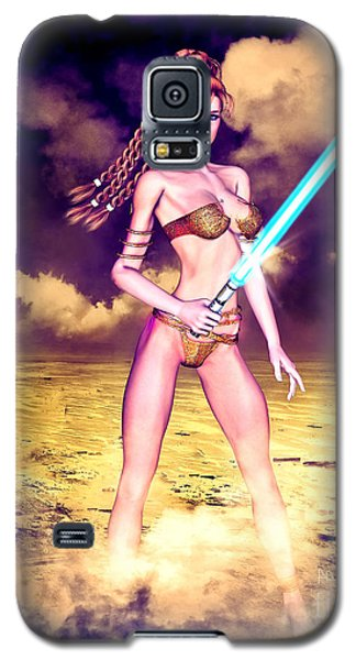 Star Wars Inspired Fantasy Pin-up Girl Galaxy S5 Case