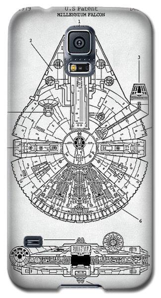 Star Wars Millennium Falcon Patent Galaxy S5 Case by Taylan Apukovska