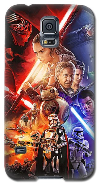 Galaxy S5 Case featuring the painting Star Wars The Force Awakens Artwork by Sheraz A