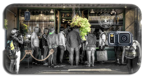 Galaxy S5 Case featuring the photograph Starbucks At The Market by Spencer McDonald