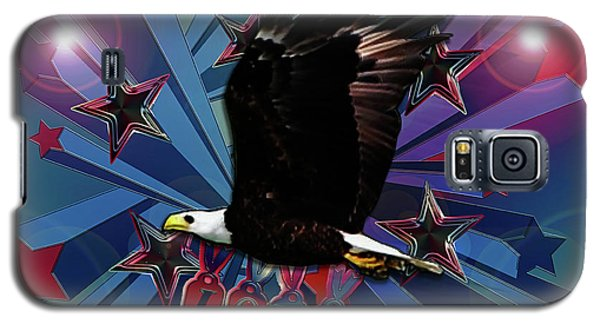 Galaxy S5 Case featuring the photograph Starburst Love Eagle by Rockin Docks Deluxephotos