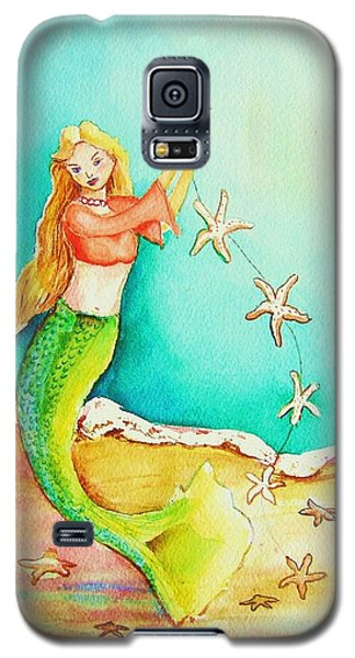 Galaxy S5 Case featuring the painting Starfish Mermaid by Patricia Piffath