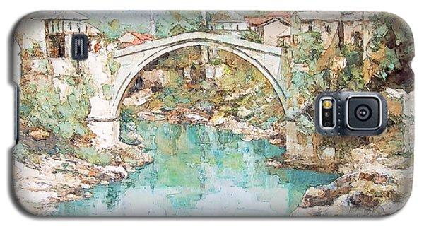 Galaxy S5 Case featuring the photograph Stari Most Bridge Over The Neretva River In Mostar Bosnia Herzegovina by Joseph Hendrix
