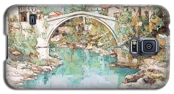 Stari Most Bridge Over The Neretva River In Mostar Bosnia Herzegovina Galaxy S5 Case by Joseph Hendrix