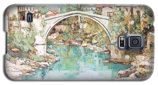 Stari Most Bridge Over The Neretva River In Mostar Bosnia Herzegovina Galaxy S5 Case