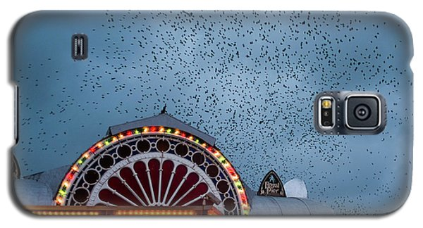 Starlings Over The Neon Lights Of Aberystwyth Pier Galaxy S5 Case