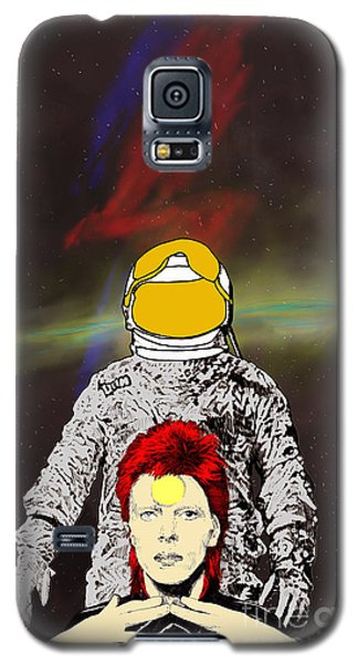 Galaxy S5 Case featuring the drawing Starman Bowie by Jason Tricktop Matthews