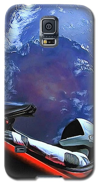 Starman In Tesla With Planet Earth Galaxy S5 Case