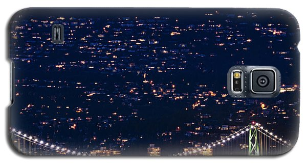 Galaxy S5 Case featuring the photograph Starry Lions Gate Bridge - Mdxxxii By Amyn Nasser by Amyn Nasser