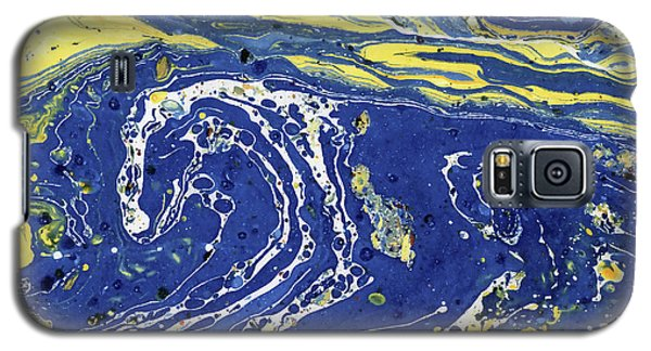 Galaxy S5 Case featuring the painting Starry Night Abstract by Menega Sabidussi