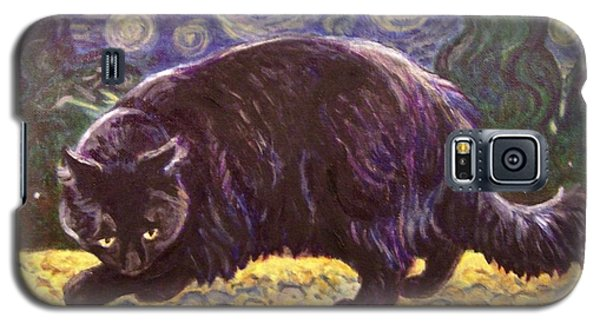 Galaxy S5 Case featuring the painting Starry Night Stroll by Laura Aceto